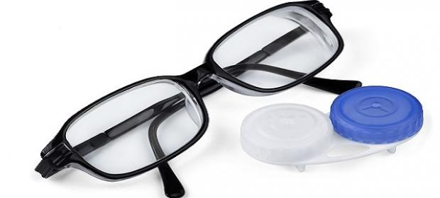 Glasses and contact case